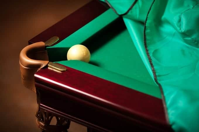 Cue Ball On Pool Table