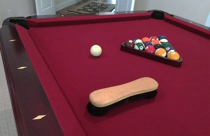 Brush On Pool Table