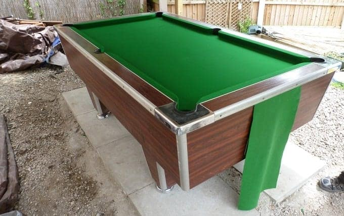 Outside Pool Table