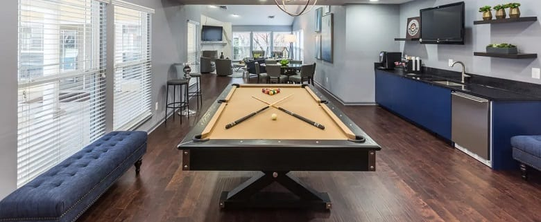 Space required for a pool table
